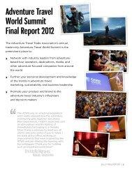 ATWS 2012 Final report - Adventure Travel Trade Association