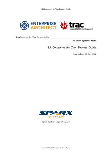 EA Connector for Trac Feature Guide - SparxSystems Software GmbH
