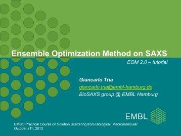 Ensemble Optimization Method on SAXS - EMBL Hamburg