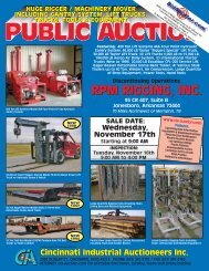 RPM RIGGING, INC. - Cincinnati Industrial Auctioneers, Inc.