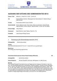 AUSHANG DER SITZUNG DES GEMEINDERATES 08/12