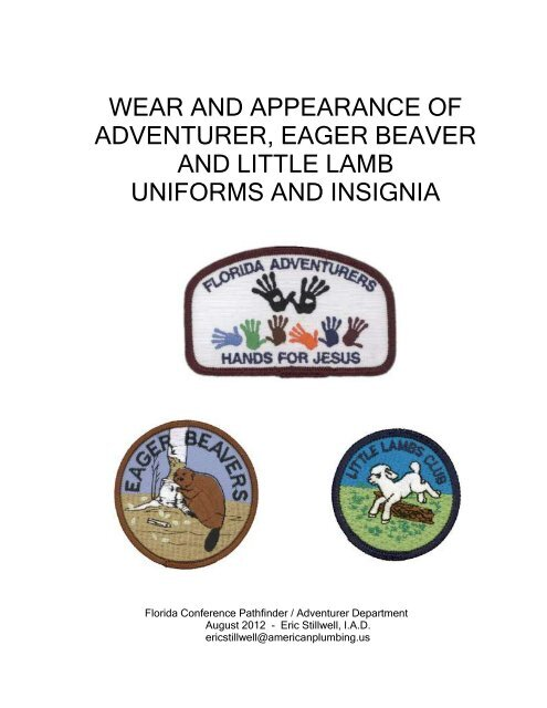 Uniforms and Insignia - Florida Conference of Seventh-day