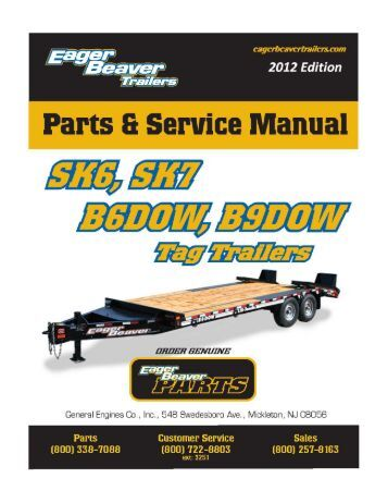 12 ton tag trailer decals eager beaver trailers common parts eager beaver trailers