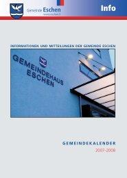 Gemeinde Eschen GEMEINDEKALENDER 2007-;2008