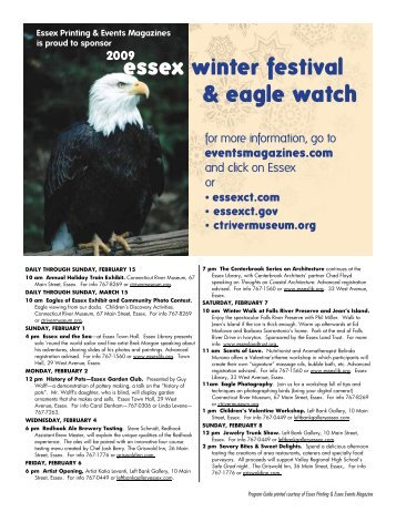 essex winter festival & eagle watch - Events Magazines