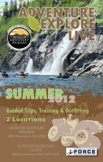 Guided Trips, Training & Outfitting 2 Locations