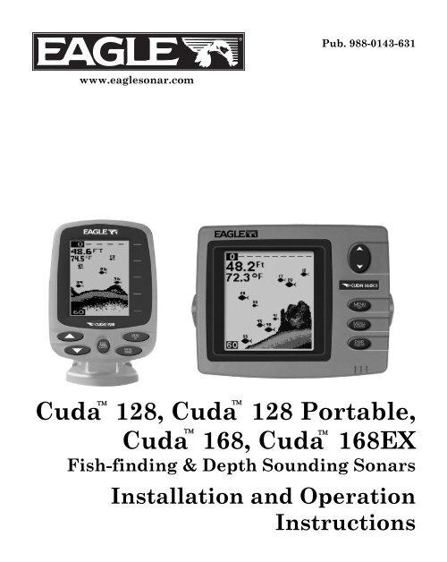 [SCHEMATICS_49CH]  Cuda 128 Owner's Manual - Eagle | Cuda 168 Transducer Wire Diagram |  | Yumpu