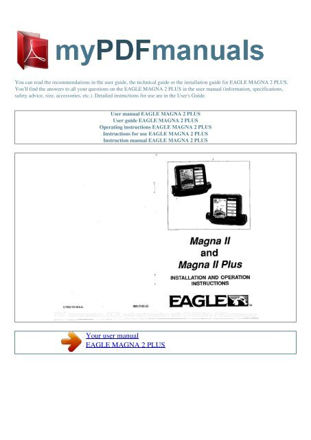 White's eagle manuals.