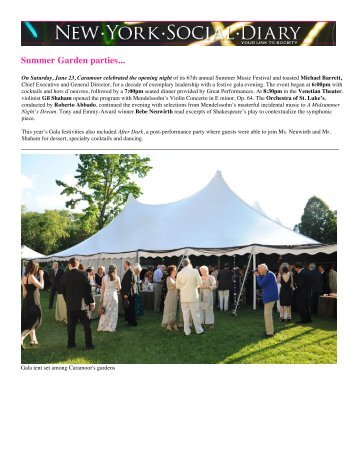 New York Social Diary - Caramoor Center for Music and the Arts