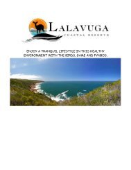 ENJOY A TRANQUIL LIFESTYLE IN THIS ... - lalavuga.co.za