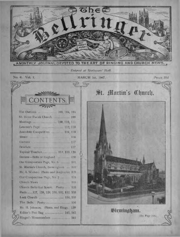No 6. 01/03/1907, pp101-144 - Central Council of Church Bell Ringers