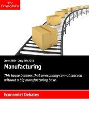 Economist Debate: Manufacturing