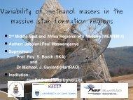 Variability of methanol maser in the massive star ... - MEARIM II