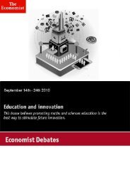 Economist Debate: Education and innovation