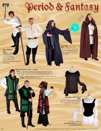 Reversible Elvish Vests – Unisex - Ancient Circles