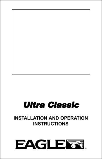 Ultra Classic Owner's Manual - Eagle