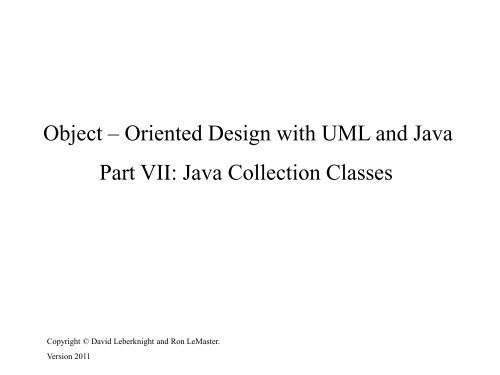 OO Design with UML and Java - 07 Collections - Gui net