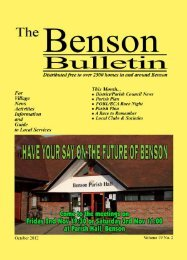 Download PDF - Benson Bulletin