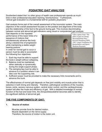 Gait Analysis Handout - painfreefeet.ca