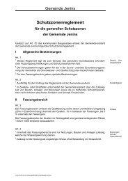 Schutzzonenreglement für die generellen Schutzzonen der ... - Jenins