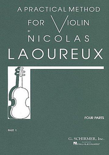 Nicolas LaoureuX — A Practical Method for the Violin - El Atril
