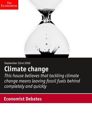 Economist Debate: Climate change. Sponsored by The Dow ...