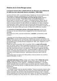 Histoire de la Croix-Rouge suisse