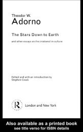 The Stars Down to Earth and other Essays on the Irrational in Culture