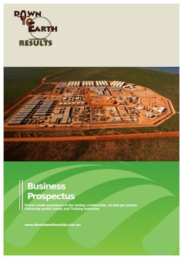 Download our Prospectus - Down to Earth Results