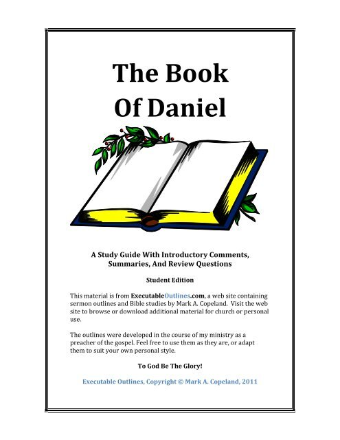 Book Of Daniel - Executable Outlines