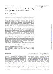 Measurements of sound-speed and density contrasts of zooplankton ...