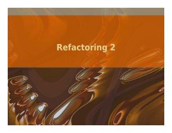 Refactoring Techniques - Testing Education