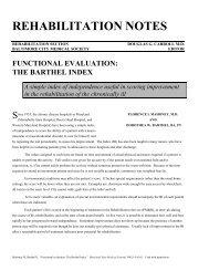 functional evaluation: the barthel index - Internet Stroke Center