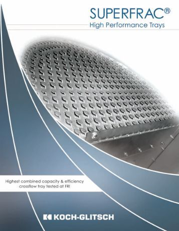 Info raschig jaeger tray technology 401 for Koch glitsch
