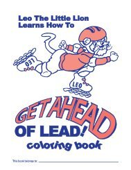 Leo the Little Lion Learns How to Get Ahead of Lead Coloring Book