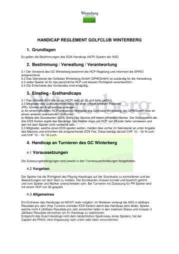 Hcp Reg GC Winterberg_v0812 - Golfclub Winterberg