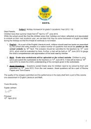 billabong school bhopal holiday homework