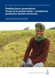 Feeding future generations: Young rural people today ... - IFAD