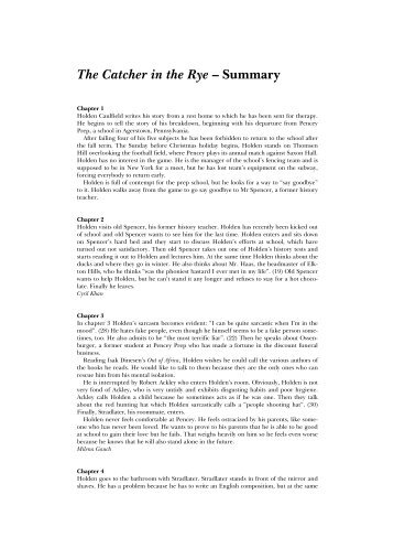 analysis of holden from catcher in the rye This essay the catcher in the rye analysis and other 64,000+ term papers  literary analysis of the catcher in the rye catcher in the rye holden analysis.