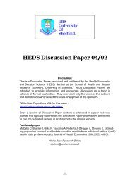 HEDS Discussion Paper 04/02 - University of Sheffield