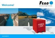 Thank you for your attention! FEAG International Freight Forwarders