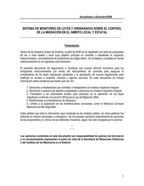 Sistema De Monitoreo De Leyes Y Ordenanzas Sobre Huellas