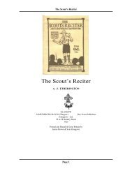 The Scout's Reciter - The Dump - ScoutsCan.com
