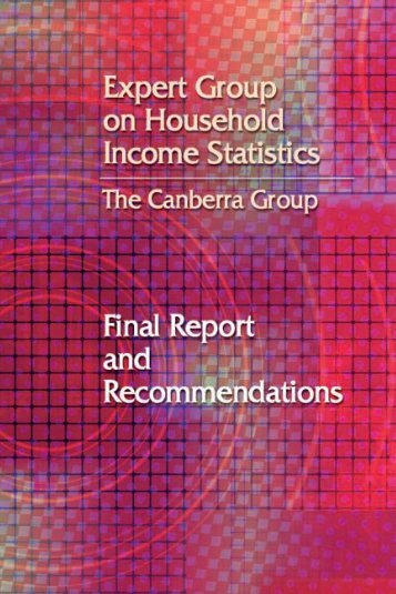 The Canberra group - Luxembourg Income Study