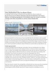 Das Hallenbad City in neuem Glanz - ernst niklaus fausch architekten