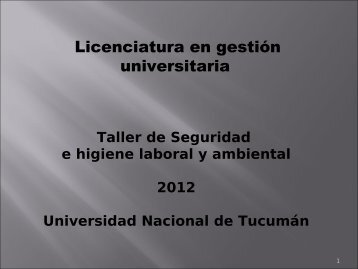 Diapositivas Tema 1 - Leyes - Licenciatura y Tecnicatura Superior ...