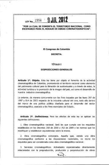 Ley 1556 - Presidencia de la República de Colombia