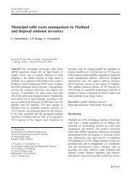 Municipal solid waste management in Thailand and disposal ...