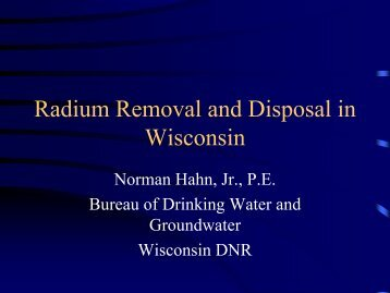 Radium Removal and Disposal in Wisconsin