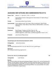 AUSHANG DER SITZUNG DES GEMEINDERATES 07/12